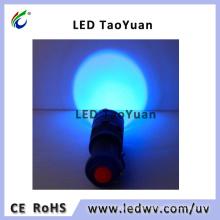 UV Blacklight Flashlight UV LED Torch Light 365nm 3W