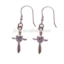 Fashion Bling Bling 18k Golden Fill Cross Earrings