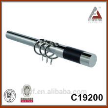 C19200 hardware decoration metal curtain rod finials, chrome curtain finials,curtain rod accessories
