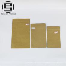 Sacs de papier ziplock de catégorie comestible sacs de stockage de nourriture