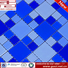 hot sale mixed blue crystal glass mosaic tile for swimming pool wall tile