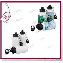 Slivoïde de 400ml et bouteille d'eau de sport blanc Sublimation avec deux couvercles