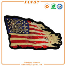 USA Flag with snake embroidery applique
