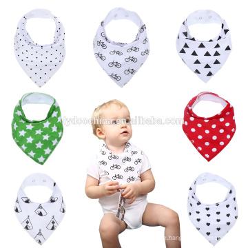 Mittagessen-Schellfisch-Bandana-Tuch-Dreiecks-Kopf-Schal-Punkt Printiing-Schellfisch-Speichel-Tuch für Mädchen-Jungen scherzt Babyschellfisch