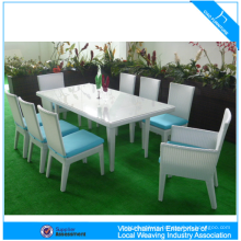Creative modern rattan dining table and chair