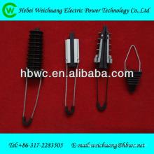 Conexões de hardware de linha aérea elétrica-braçadeira de tensão