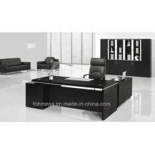 Schwarze Melamin Executive Tisch Moderne Executive Büromöbel Anzug