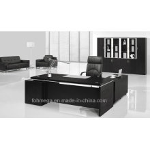 Black Melamine Executive Table Modern Executive Office Furniture Suit