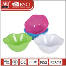 round plastic salad bowl 1.3L 3L 5L