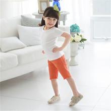 Kinder leere Plain T-Shirts mit kurzen Ärmeln aus weicher Baumwolle mit guter Qualität