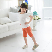 Enfants T-shirts unis sans manches Coton à manches courtes avec une bonne qualité