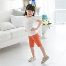 Crianças Blank Plain T-shirts mangas curtas de algodão macio com boa qualidade