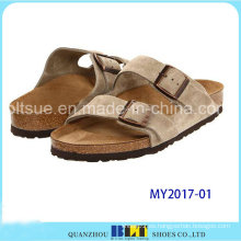 Sandalias de corcho de diseño único para hombres con suela de goma