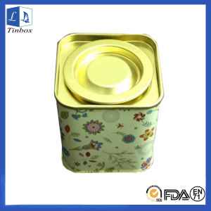 Square Coffee Tin Packaging Box