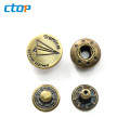 Factory Price Custom Fashion Metal Buttons New Design Clothes Button Snap Button