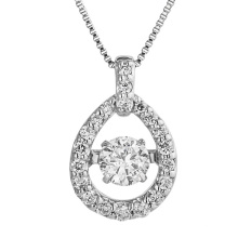 Hot Sales 925 Pendentifs en argent Bijoux en diamant de danse