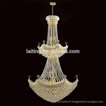 Guzhen éclairage chinois hall lustre en cristal lustre lampe pour projet hôtelier 62037