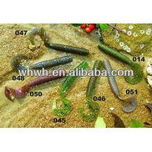 Soucis de pêche à l'eau salée doux caisses de pêche de 9,5 cm / 7,5g