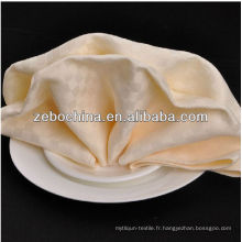 Vente chaude usine directe fabriquée en gros de luxe en coton serviette de luxe pour dîner