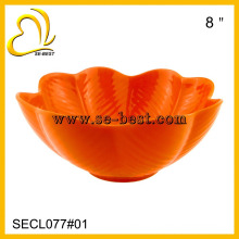 color melamine flower shape bowl orange bowl