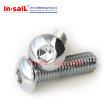 2016 Shenzhen Fornecedor Botão Cabeça Cap Parafusos em Ss Fabricante