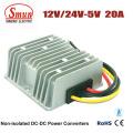12V impermeável 24V à fonte de alimentação do diodo emissor de luz de 5V 20A 100W