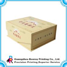 caja de papel impresa personalizada popular en forma de libro de la fábrica de China CMYK