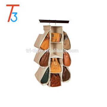 10 pockets non-woven fabric hanging wall pockets handbag storage organizer