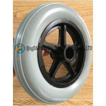 Solid PU Foam Wheels Complete with Plastic Rim for Wheelchair