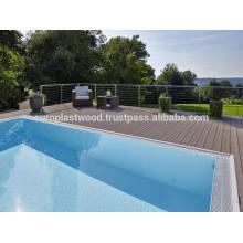 Pretty WPC decking para piscina deck, jardim etc
