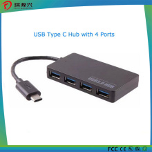 2016 más nuevo Type-C Male4 Puerto USB 3.0 Hub