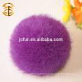 2015 Año Nuevo Producto Accesorios de piel Lovely Fur Pompom Llavero genuino colorido al por mayor 8 cm bolas de piel de conejo