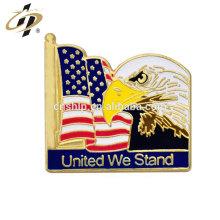 Itens de promoção de metal EUA esmalte águia broche emblemas para o dia nacional