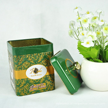 Customized High Quality Chinese Tea Tin Box, caixa de lata para chá