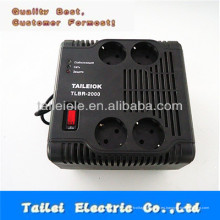 2000w hogar regulador de voltaje automático de la toma tipo 220V