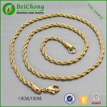 Wholesale Korean Gold Jewelry Golden Necklace