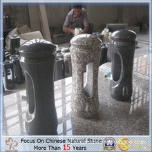 Granite Stone Candle Holder for Cemetery or Memorial Park