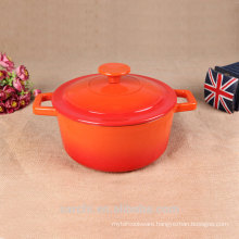enameled metal dishes cooking pot casserole with lid