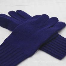 Men's Pure Cashmere Winterhandschuhe mit gerippten Bündchen
