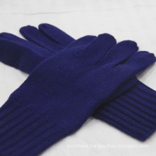 Men's Pure Cashmere winter Gloves with Ribbed Cuff