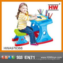 Высокое качество 2 в 1 пластиковых детей проектор стол