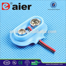 Daier DCK8 9V T Art Plastikweichleder Ir44 Batteriehalter mit Draht führt