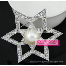 crystal star wedding brooches and buckles