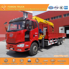 FAW 6*4 truck mounted lifting crane 16tons