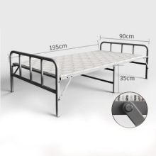 Hot sale high load-bearing hotel metal folding bed for bedroom steel pipe lounge bed