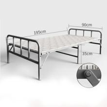 Venda quente de alta carga-rolamento de metal do hotel cama dobrável para o quarto tubo de aço cama lounge
