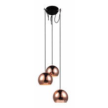 Copper Steel E27 Decorative Livingroom Pendant Lamps (MD6144-3CP)