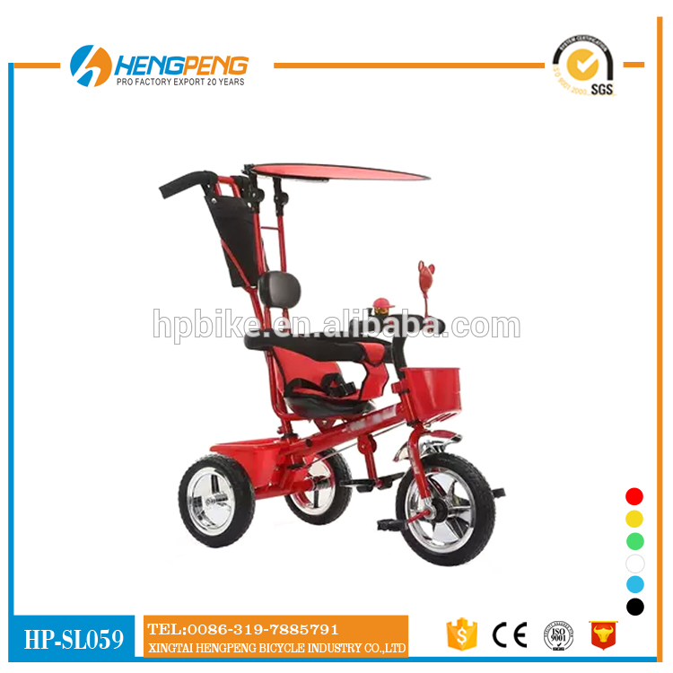 Foot and Hand Power Multi Function Baby Tricycle, triciclo barato para crianças, Baby Tricycle Air Tire 4 In 1 Tricycle for Kids