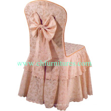 Round Back Nice Chair Cover with Bow (YC-856)