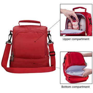 New Trend Conveniente Red Polyeater Lunch Cooler Bags